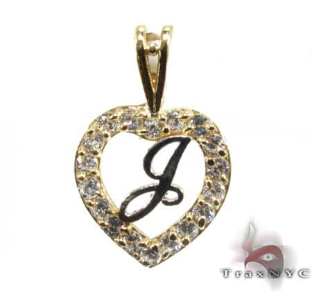 Golden J Pendant Metal