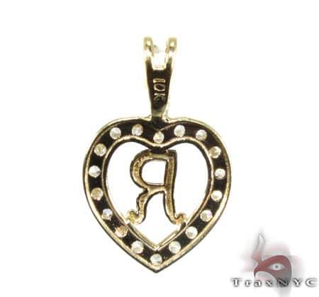 Golden R Pendant Metal