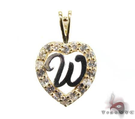 Golden W Pendant Metal