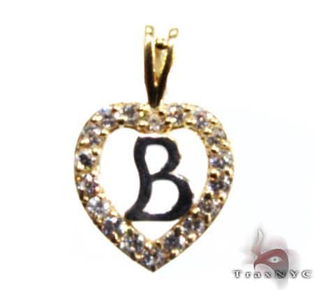 Golden B Pendant Metal