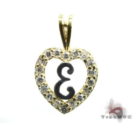 Golden E Pendant Metal