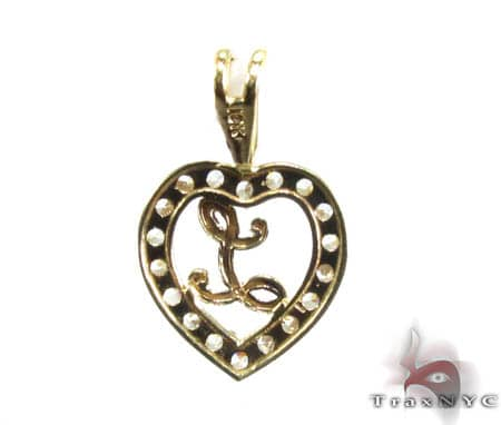 Golden L Pendant Metal