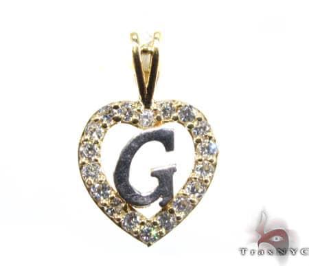 Golden G Pendant Metal