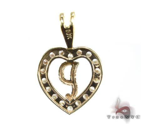Golden P Pendant Metal