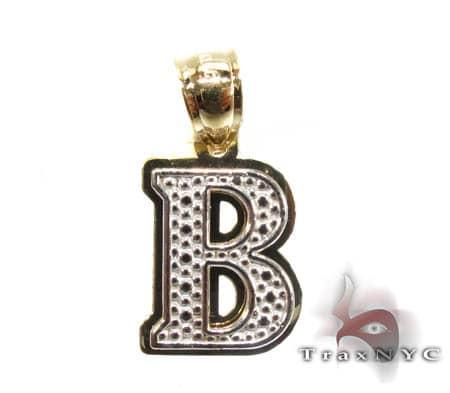 Initial B Pendant Metal