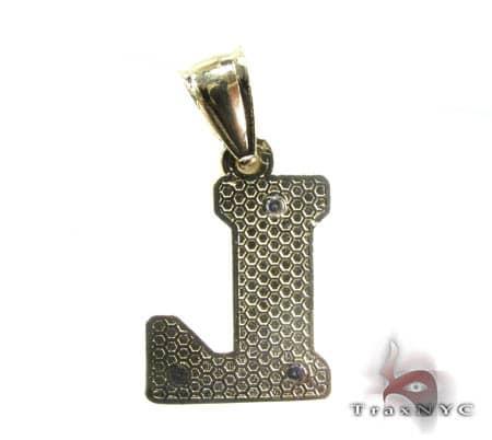 Initial L Pendant Metal