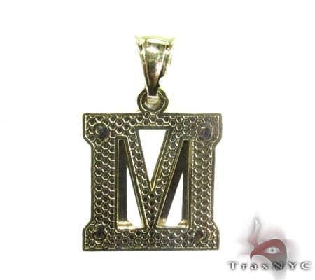 Initial M Pendant Metal