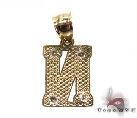 Initial Gold Pendant Metal