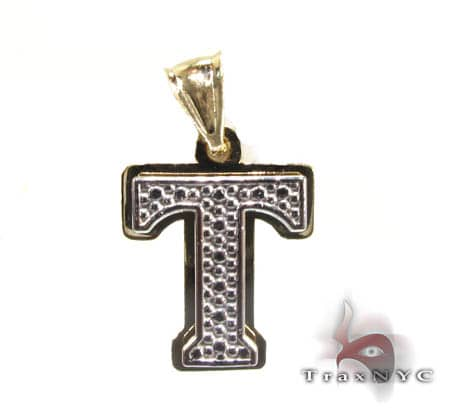 Initial T Pendant Metal