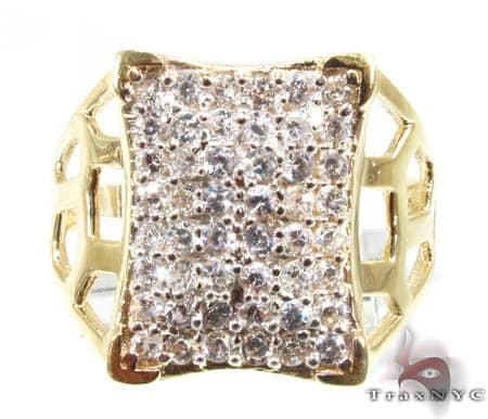 Golden Shield Ring Metal