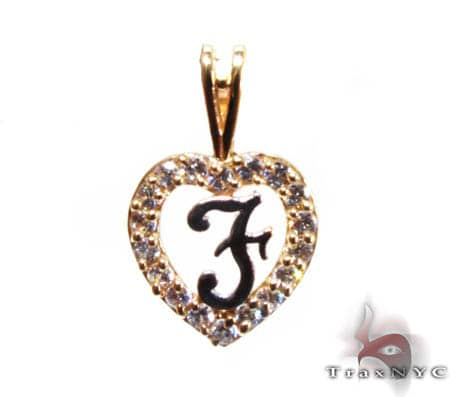 Golden F Pendant Metal