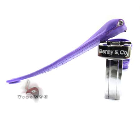 Benny & Co Ladies Purple Polyurethane Band Watch Accessories