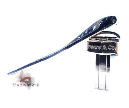Benny & Co Men's Navy Blue Leather Band Watch Accessories