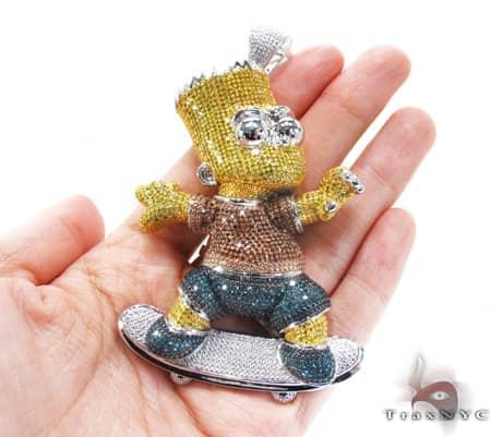 Custom Jewelry - Bart Simpson Pendant 2 Metal