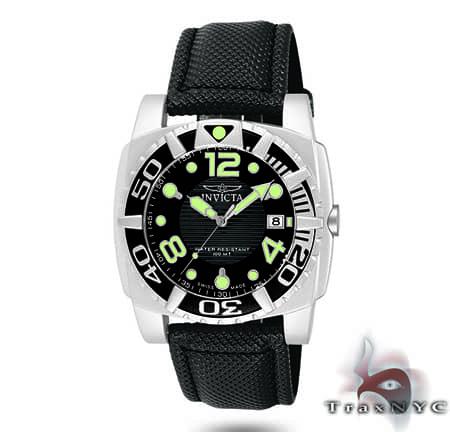 Pro Diver Aluminum QTZ Black Mesh Black Dial Invicta Watches