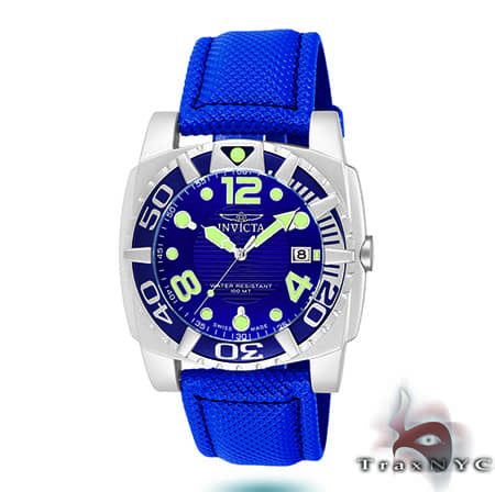 Pro Diver Aluminum QTZ Blue Mesh Invicta Watches