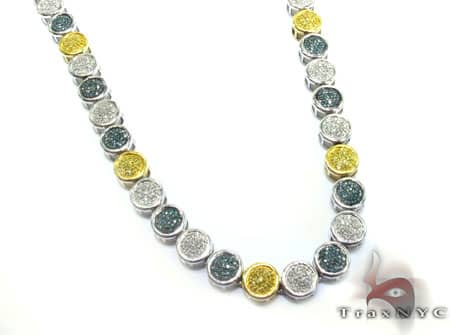 Multi Color Diamond Chain 33 Inches, 70 Grams Diamond