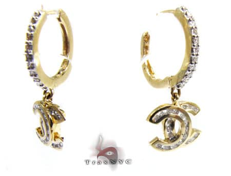 Y.G. Channel Cut Earrings Stone