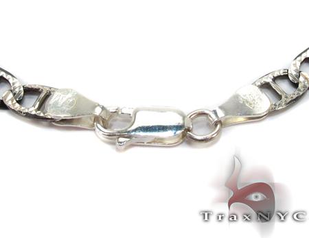 Diamond Cut Black Silver Bracelet 27662 Silver & Stainless Steel