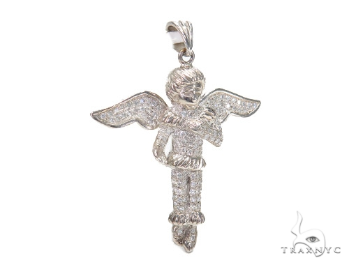 Angel Prong Diamond Pendant 42534 Metal