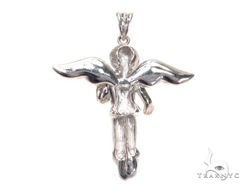 Angel Prong Diamond Pendant 42534 Metal