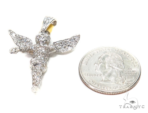 Angel Prong Diamond Pendant 42535 Metal