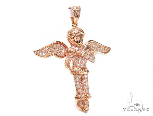 Angel Prong Diamond Pendant 42539 Metal