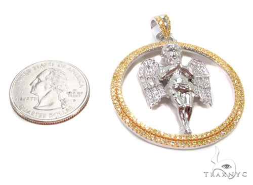 Angel Silver Pendant 36587 Metal