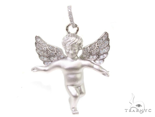 Angel Silver Pendant 36602 Metal