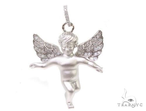 Angel Silver Pendant 36602 Metal