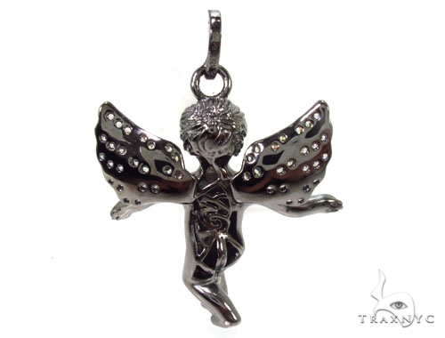 Angel Silver Pendant 36604 Metal
