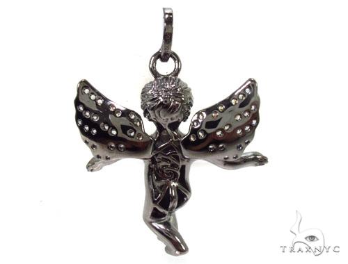 Angel Silver Pendant 36604 Metal