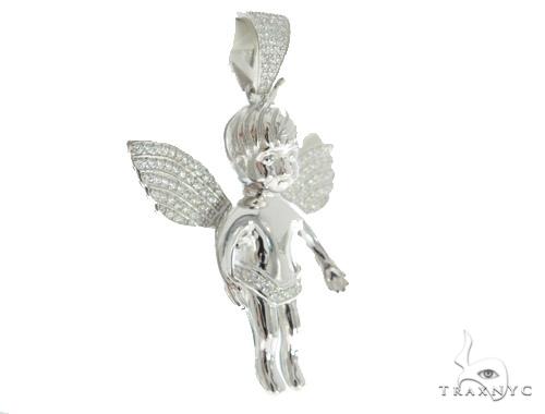 Angel Silver Pendant 56439 Metal