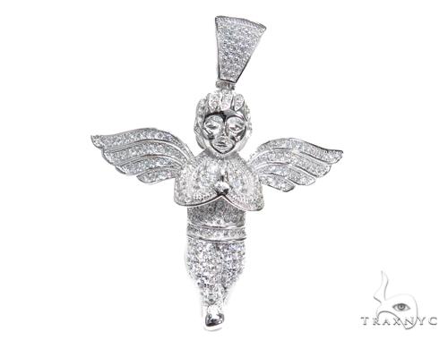 Angel Sterling Silver Pendant 42887 Metal
