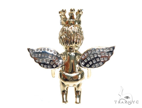 Angel with Crown Pendant 41530 Metal