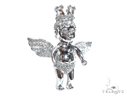 Angel with Crown Pendant 41531 Metal