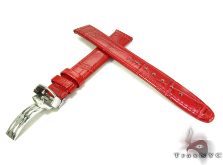 Aqua Master Red Leather Band 16mm Watch Accessories