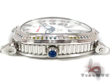 Aqua Techno Diamond Bezel Leather Band Watch Aqua Techno