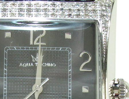 Aqua Techno Diamond with Black Leather Watch Aqua Techno