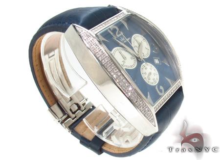 Aqua Techno Diamond & Blue Leather Watch Aqua Techno