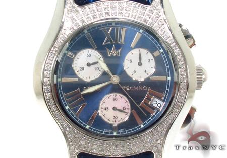 Aqua Techno Diamond with Blue Leather Watch Aqua Techno