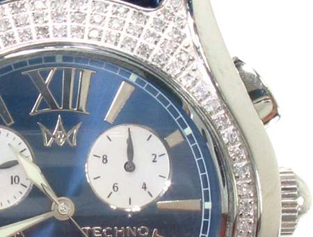 Aqua Techno Diamond with Blue Leather Watch Aqua Techno