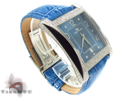 Aqua Techno Diamond & Leather Watch Aqua Techno