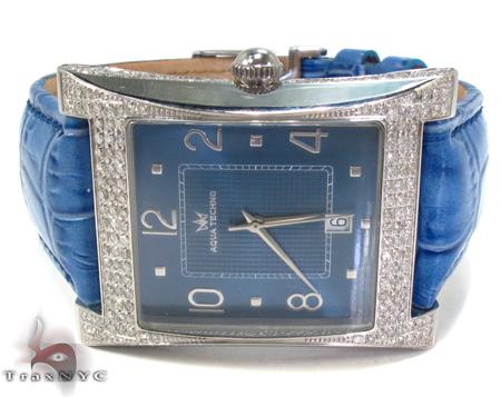Aqua Techno Diamond & Leather Watch Aqua Techno