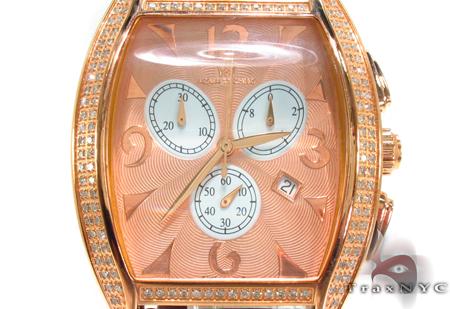 Aqua Techno Diamond with Brown Leather Watch Aqua Techno