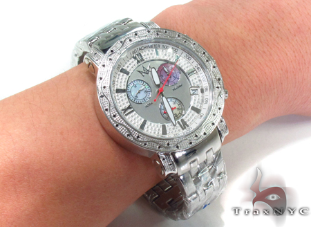 Aqua Techno Diamond with Mother of Pearl Chronograph Dial Watch Aqua Techno
