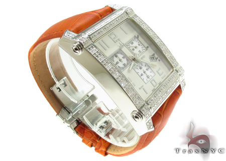 Aqua Techno Diamond with Orange Leather Watch Aqua Techno