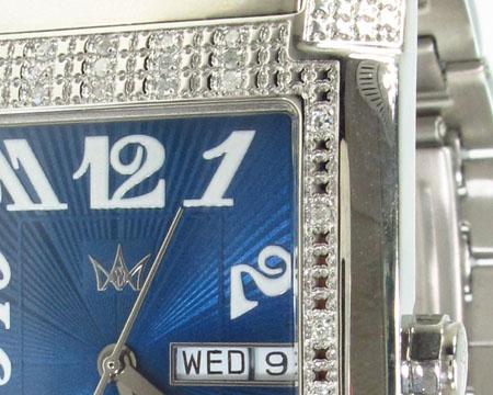 Aqua Techno Diamond & Stainless Steel Watch Aqua Techno