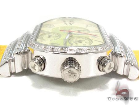 Aqua Techno Diamond with Yellow Leather Watch Aqua Techno