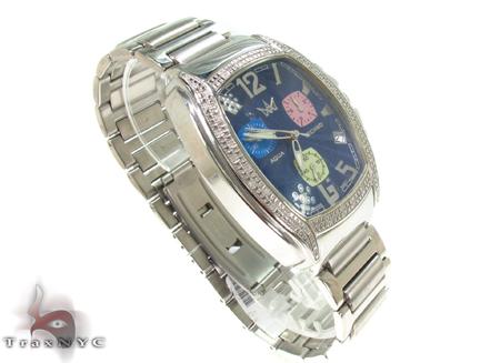 Aqua Techno Blue Steel & Diamond Watch Aqua Techno